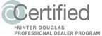 Hunter Douglas Progessional Certified Dealer Program