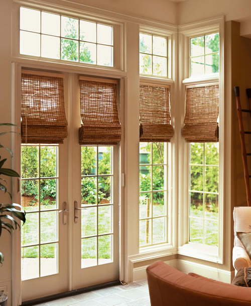 Woven Wood Grass Shades Manual And Motorized Lutron Hunter