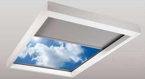 Lutron Sivoia tensioned Skylight Shade