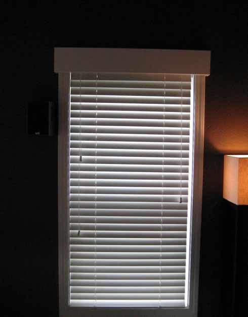 Dual system: Manual Wood Blinds with lithium battery motorized